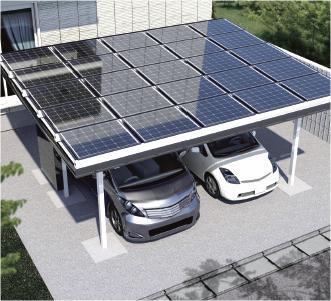 太陽光システム搭載カーポート