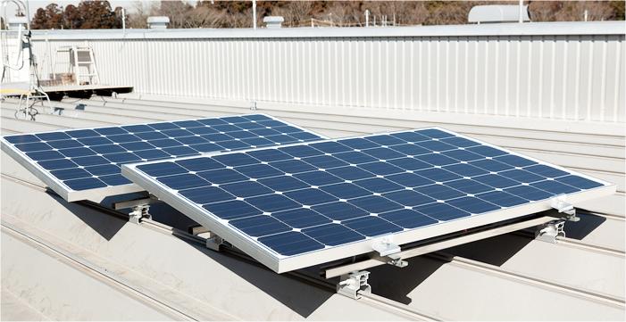ハゼ式折板屋根設置(レール傾斜工法)設置例