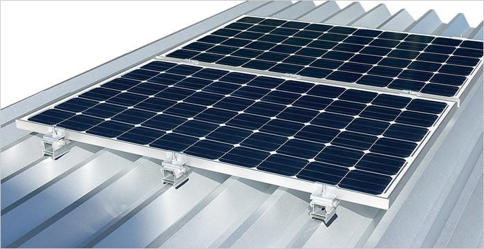 重ね式折板屋根設置(直付工法)設置例